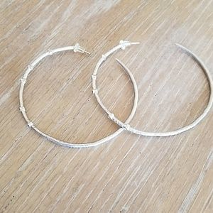 Dogeared Crystal Halo Hoops